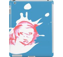 Monkey face in a milk splash iPad Case/Skin