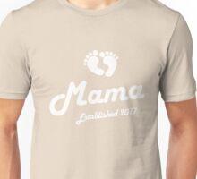 Mama Established Est 2017 New Baby T-Shirt Unisex T-Shirt