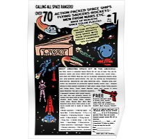 Space Rangers Comic Ad Poster
