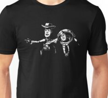 Toy Fiction Pulp Story Funny Tee Black Woody Buzz Retro Movie Unisex T-Shirt