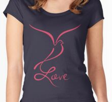 Love Dove Women's Fitted Scoop T-Shirt