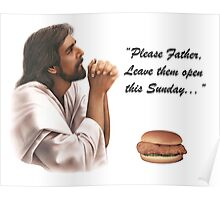 Jesus Chick-fil-a Poster
