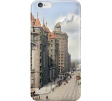 Niagara Street, Buffalo, 1908 iPhone Case/Skin