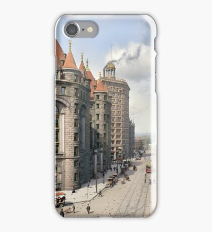 Niagara Street, Buffalo, 1908 iPhone Case/Skin