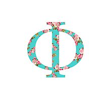 Phi Rose Letter Photographic Print