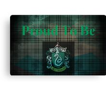 Slytherin Proud Canvas Print