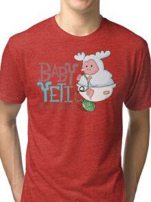 Baby Yeti Crochet Tri-blend T-Shirt