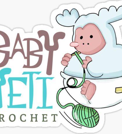 Baby Yeti Crochet Sticker
