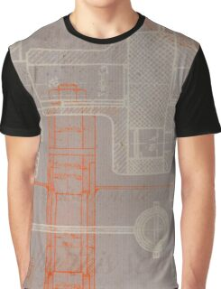 Steampunk engeenering schematic Graphic T-Shirt