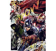 The Avengers Strike Back! Photographic Print