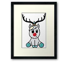 Reindeer (totally not a unicorn!) Framed Print