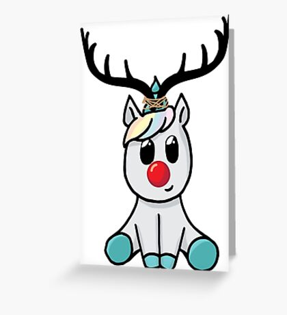 Reindeer (totally not a unicorn!) Greeting Card