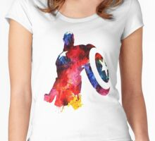 CAPTAIN AMERICA Women's Fitted Scoop T-Shirt