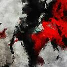 Black and Red Minimalist Abstract Painting by A. TW