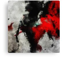 Black and Red Minimalist Abstract Painting Canvas Print