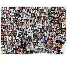 Elvis presley collage Poster