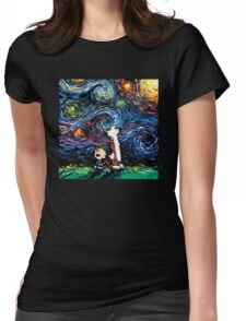 calvin hobbes Womens Fitted T-Shirt