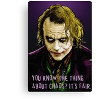 Joker Says Canvas Print