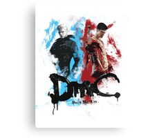 DmC 'Devil May Cry' - Worlds Collide Canvas Print
