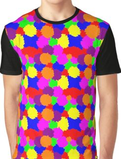 Colourful Splodges Graphic T-Shirt