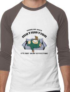 snorlax pizza Men's Baseball ¾ T-Shirt