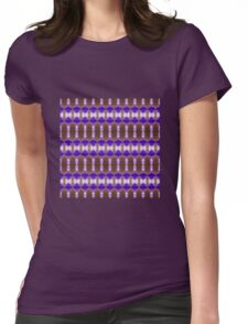 Lilac Grid (VN.420) Womens Fitted T-Shirt