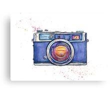 Watercolor vintage photo camera Canvas Print