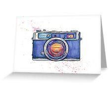 Watercolor vintage photo camera Greeting Card