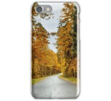 Trees near the road iPhone Case/Skin