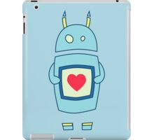 Clumsy Cute Robot With Heart iPad Case/Skin