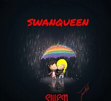 SwanQueen - Swen and Rainbow and Rain by janieb18