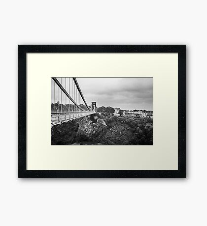 Clifton Suspension Bridge, Bristol, UK.  Framed Print