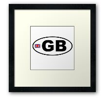 GB BUMPER STICKER Framed Print