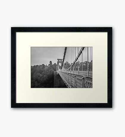 Clifton Suspension Bridge, Bristol, UK Framed Print