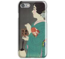 Insect cage - Shinsui Ito - 1931 iPhone Case/Skin