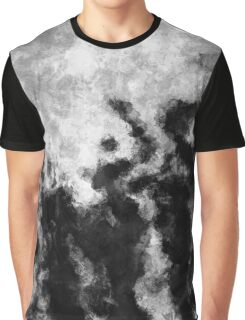 Black and White Minimalist Abstract Painting Graphic T-Shirt