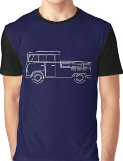 VW Type 2 Crew Cab Blueprint Graphic T-Shirt