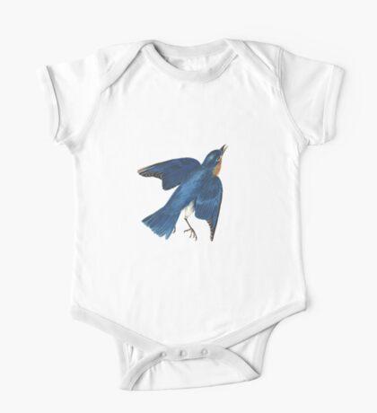 Blue Bird - John James Audubon One Piece - Short Sleeve