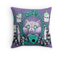 A Seance With Madame Meow-Meow, Gifted Medium Throw Pillow