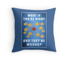 You're right, and they're wrong? Throw Pillow