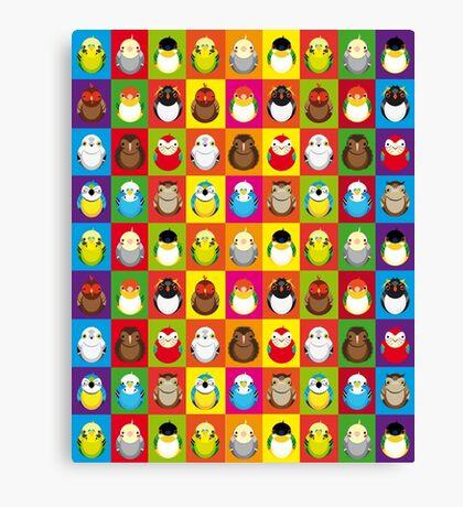 For all the bird lovers - rainbow edition Canvas Print