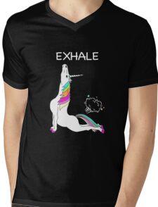Yoga Unicorn Exhale T shirt T shirt  Mens V-Neck T-Shirt