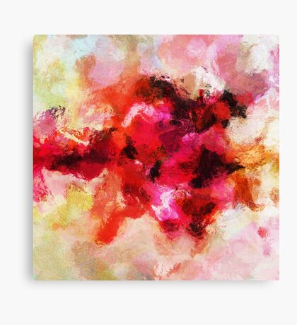 Pink Minimalist Abstract Painting Canvas Print