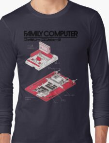 Famicom Diagram  Long Sleeve T-Shirt