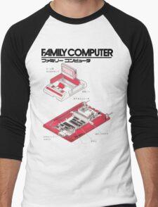 Famicom Diagram  Men's Baseball ¾ T-Shirt