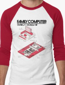 Famicom Diagram  Men's Baseball ¾ T-Shirt