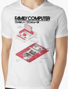 Famicom Diagram  Mens V-Neck T-Shirt