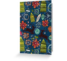 joyous jumble indigo Greeting Card