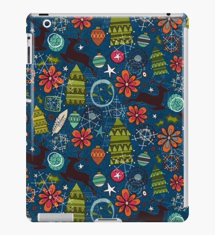 joyous jumble indigo iPad Case/Skin