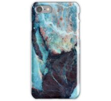 Navy blue marble iPhone Case/Skin